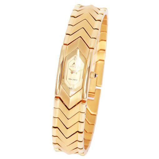 Astron női ékszeróra, acél, arany színű, nikkelmentes, IP Gold bevonat