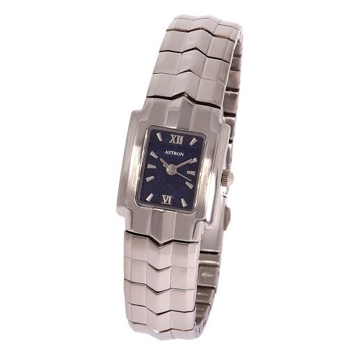 ASTRON 5067-2 női karóra, ezüst színű fém tok, ezüst színű fémcsat, kék számlap, keményített ásványüveg, quartz szerkezet, cseppmentes vízállóság