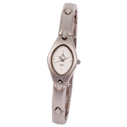 ASTRON 5078-8 analóg női karóra, ezüst színű fémötvözet tok, ezüst színű fémötvözet szíj/csat, fehér számlap, keményített ásványüveg, quartz szerkezet, cseppmentes vízállóság