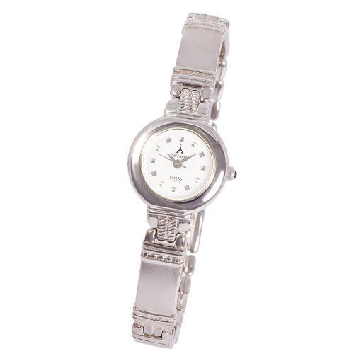 ASTRON 5080-8 analóg női karóra, ezüst színű fémötvözet tok, ezüst színű fémötvözet szíj/csat, fehér számlap, keményített ásványüveg, quartz szerkezet, cseppmentes vízállóság