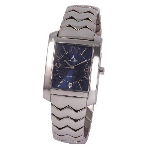 ASTRON 5134-2 férfi karóra, ezüst színű nemesacél tok, ezüst színű nemesacél csat, kék számlap, keményített ásványüveg, quartz szerkezet, cseppmentes vízállóság