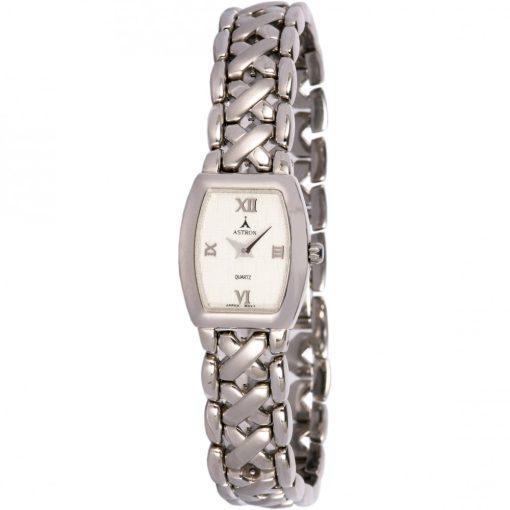 ASTRON 5138-7 női karóra, ezüst színű fém tok, ezüst színű fémcsat, fehér számlap, keményített ásványüveg, quartz szerkezet, cseppmentes vízállóság