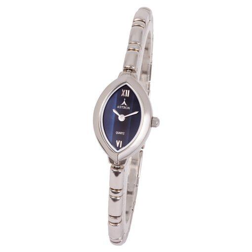 ASTRON 5140-2 női karóra, ezüst színű fém tok, ezüst színű fémcsat, kék számlap, keményített ásványüveg, quartz szerkezet, cseppmentes vízállóság