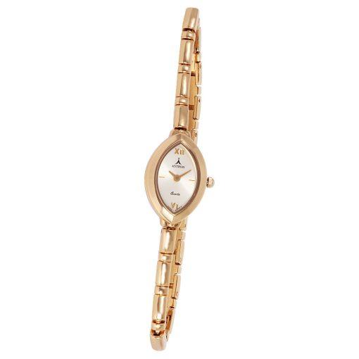 ASTRON 5140-9 női karóra, arany színű fém tok, arany színű fémcsat, pezsgőszínű számlap, keményített ásványüveg, quartz szerkezet, cseppmentes vízállóság