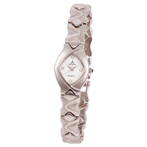 ASTRON 5167-7 női karóra, ezüst színű nemesacél tok, ezüst színű fémcsat, fehér számlap, keményített ásványüveg, quartz szerkezet, cseppmentes vízállóság