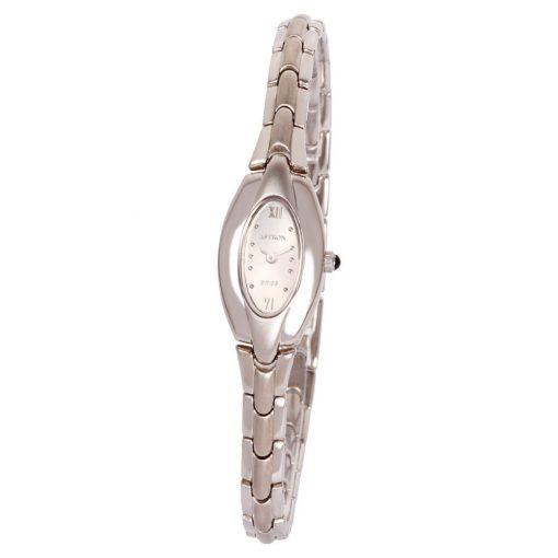 ASTRON 5177-7 női karóra, ékszeróra, ezüst színű nemesacél tok, ezüst színű fémcsat, ezüst színű számlap, keményített ásványüveg, quartz szerkezet, cseppmentes vízállóság