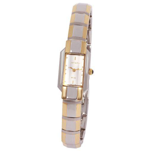 ASTRON 5180-5 női karóra, bicolor színű nemesacél tok, bicolor fémcsat, ezüst színű számlap, keményített ásványüveg, quartz szerkezet, cseppmentes vízállóság