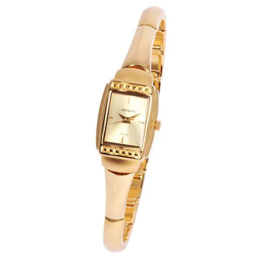 Astron női ékszeróra, quartz, arany színű tok és csat, arany színű számlap