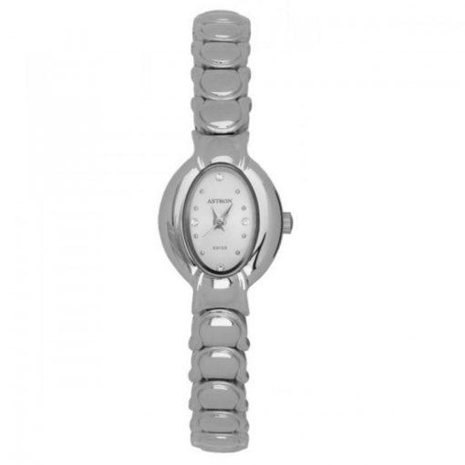ASTRON 5186-7 női karóra, ezüst színű fém tok, ezüst színű fémcsat, fehér számlap, keményített ásványüveg, quartz szerkezet, cseppmentes vízállóság