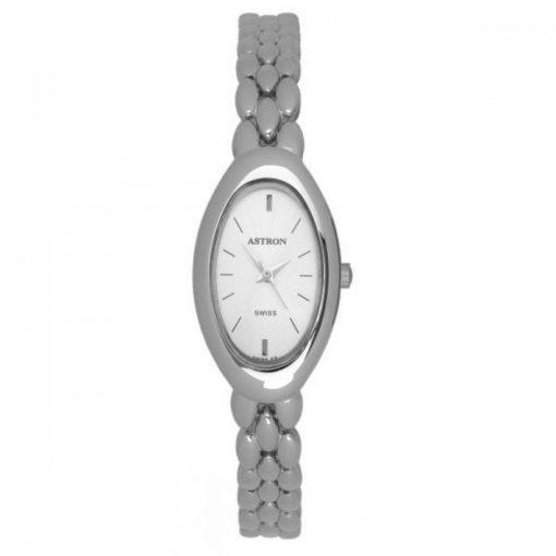 ASTRON 5189-8 női karóra, ékszeróra, ezüst színű fém tok, ezüst színű fémcsat, ezüst színű számlap, keményített ásványüveg, quartz szerkezet, cseppmentes vízállóság