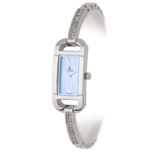 ASTRON 5431-2 női karóra, ezüst színű fém tok, ezüst színű fémcsat, kék számlap, keményített ásványüveg, quartz szerkezet, cseppmentes vízállóság