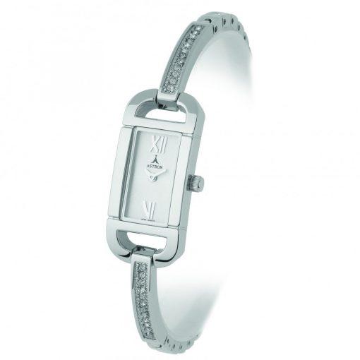ASTRON 5431-8 analóg női karóra, ezüst színű fém tok, ezüst színű fém szíj/csat, ezüst színű számlap, keményített ásványüveg, quartz szerkezet, cseppmentes vízállóság