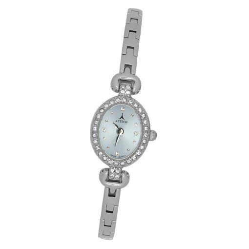 ASTRON 5433-2 női karóra, ezüst színű fém tok, ezüst színű fémcsat, lila számlap, keményített ásványüveg, quartz szerkezet, cseppmentes vízállóság