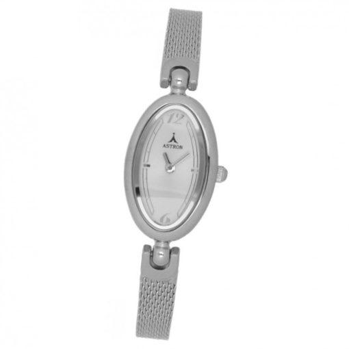 ASTRON 5456-8 női karóra, ezüst színű fém tok, ezüst színű nemesacél csat, fehér számlap, keményített ásványüveg, quartz szerkezet, cseppmentes vízállóság