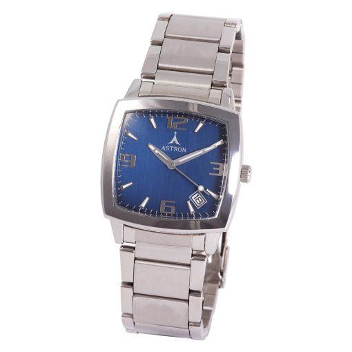 ASTRON 5464-2 férfi karóra, ezüst színű fém tok, ezüst színű fémcsat, kék számlap, keményített ásványüveg, quartz szerkezet, cseppmentes vízállóság