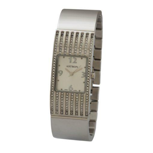 ASTRON 5635-8 női karóra, ezüst színű nemesacél tok, ezüst színű nemesacél csat, fehér számlap, keményített ásványüveg, quartz szerkezet, cseppmentes vízállóság