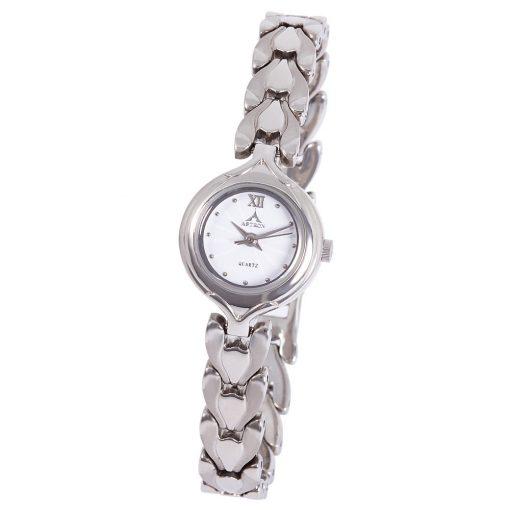 ASTRON 5701-7 női karóra, ezüst színű nemesacél tok, ezüst színű nemesacél csat, fehér számlap, keményített ásványüveg, quartz szerkezet, cseppmentes vízállóság