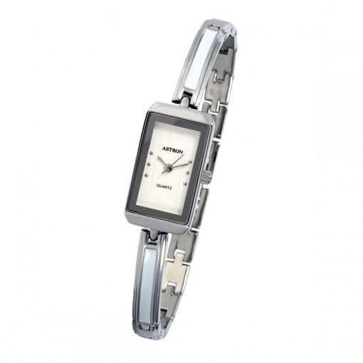 ASTRON 5748-7 női karóra, ezüst színű fém tok, ezüst színű fémcsat, fehér számlap, keményített ásványüveg, quartz szerkezet, cseppmentes vízállóság