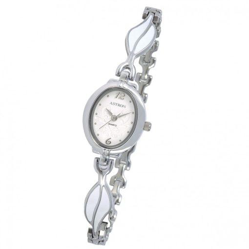 ASTRON 5749-7 női karóra, ezüst színű fém tok, ezüst színű fémcsat, fehér számlap, keményített ásványüveg, quartz szerkezet, cseppmentes vízállóság