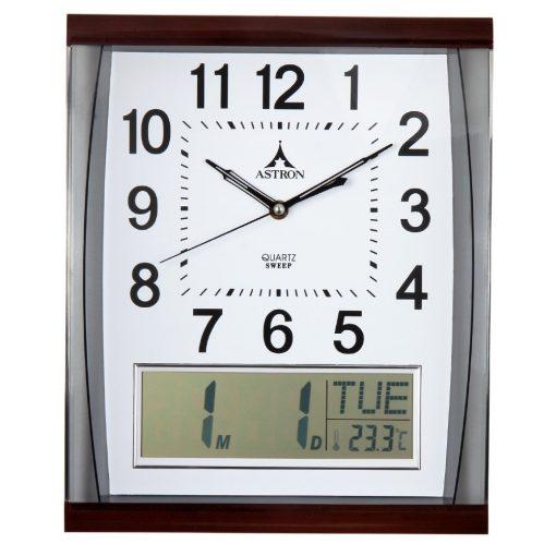 Astron falióra, quartz, barna, LCD kijelző ( dátum, nap, hőmérséklet )