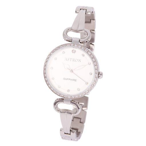 ASTRON 8005-7 analóg divat|női karóra, ezüst színű nemesacél tok, ezüst színű nemesacél szíj/csat, ezüst színű számlap, zafír, quartz szerkezet, cseppmentes vízállóság